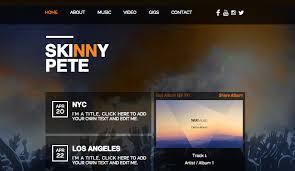 Wix Website Templates Stunning DJ Producer Website Templates Music Wix