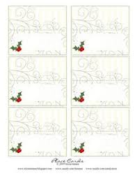 christmas placecard templates free printable christmas place cards pinteres