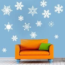 snowflake vinyl wall window decal mural d epic snowflake wall decals