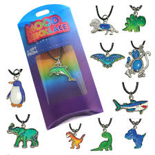 Mood Necklace Chart Details About Thermochromic Colour Changing Animal Mood Necklace Pendant Charm Leather Chart