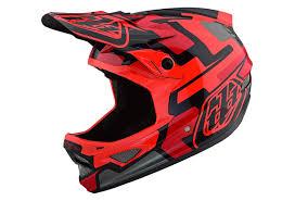 Troy Lee Design Troy Lee Designs D3 Fiberlite Speedcore Full Face Helmet Red Black Glossy