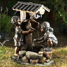two children and wishing well water