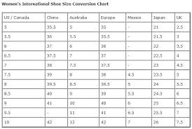 International Footwear Size Chart Dont Buy Without Checking This Womens International Shoe