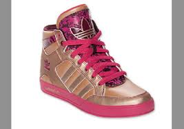 adidas shoes pink and gold. shoes adidas high tops cute wear buy pink gold and w