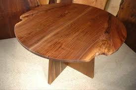 round walnut crotch slab dining room table