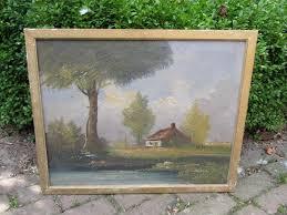 Oud schilderij in olieverf   Lijsten, foto's en spiegels   brocantefrederic
