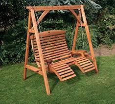 Wooden Luxury Comfort Garden Swing Seat Beech Finish