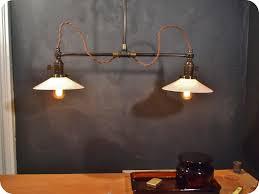 vintage industrial lighting fixtures. Vintage Industrial Double Shade Ceiling Sconce - Machine Age Flat  Pendant Lamp Light Vintage Industrial Lighting Fixtures