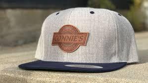 custom leather patch snapback hat