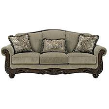 traditional sofa designs. Ashley Furniture Signature Design - Martinsburg Sofa Traditional Couch Meadow With Brown Base Designs
