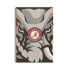alabama crimson tide crimson elephant wood art on alabama elephant wall art with alabama crimson tide crimson elephant officially licensed wall art
