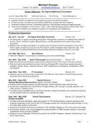 Lean Six Sigma Resume Sample Sidemcicek Healthcare Consultant Resume