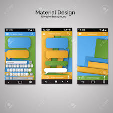 Vector Illustration Of Abstract User Interface Templates Of Overlaps