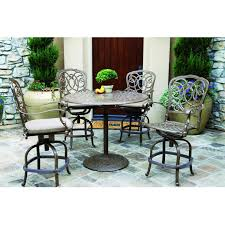 darlee florence 5 piece cast aluminum patio counter height