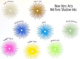 Hero Arts Shadow Ink Color Chart Video Hero Arts Soft And Mid Tone Shadow Inks Giveaway