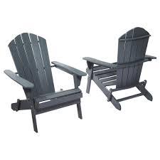 hampton bay graphite folding outdoor adirondack chair 2 pack