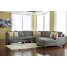 signature design by ashley furniture chamberly 5 piece sectional sofa in alloy