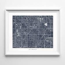 Amazon Com Gilbert Arizona Street Road Map Poster Home