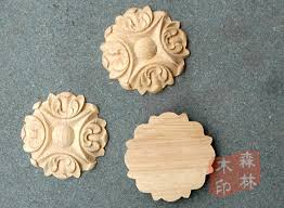 furniture motifs. Wood Antique Furniture Dongyang Carving Motif Shavings Solid Decoration Small Round Applique-in Figurines \u0026 Miniatures From Home Motifs