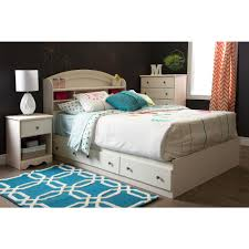 white full storage bed. South Shore Country Poetry 3-Drawer White Wash Full-Size Storage Bed Full