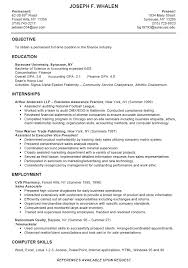Resume Example For College Student 5 Sample Good Job Examples