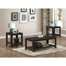 monarch specialties cappuccino 3pc table coffee table set
