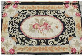 needlepoint rug 2x3 61x91cm black cream