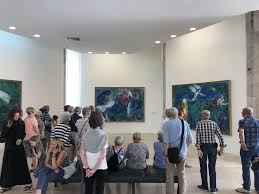 photo of musée national marc chagall nice france tour group admiring the biblical
