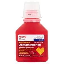Cvs Health Extra Strength Pain Relief Adult Liquid Rapid Burst Cherry 8 Oz