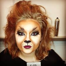 lion makeup this lion makeup would be appropriate to wear if you were going as the cowardly lion too wolf makeup