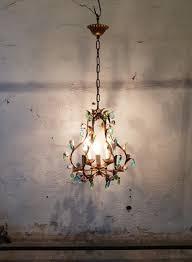 flower pendant light brocante cafe