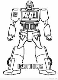 Iron Hide Transformer Coloring Page Transformer