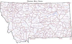 area map  central montana