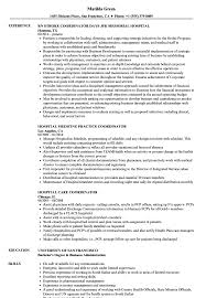 Hospital Resume Sample Hospital Coordinator Resume Samples Velvet Jobs 15