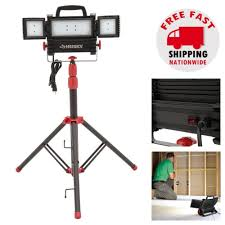 Fluorescent Work Light Tripod Led Work Light With Tripod Stand Indoor Outdoor Adjustable