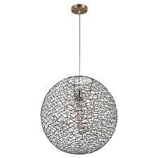 brass indoor elongated pendant