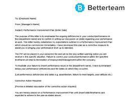 Employee Performance Letter Sample Performance Improvement Plan Template Free Download