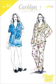 Pajama Patterns Magnificent Carolyn Pajamas Sewing Pattern Pajama Pants Top Pattern