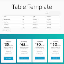 tamplate free html bootstrap table template
