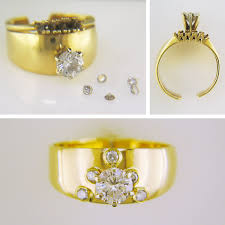 it s jewelry repair before and after time this ring came in our with missing diamonds and a lot of wear we have it a full makeover and a fresh new