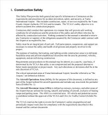 sample safety plan sample safety plan template 10 free samples examples format