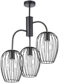Kronleuchter Deckenlampe Drahtlampe Modern Bora Schwarz 31473