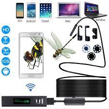 <b>WIFI Endoscope</b> Camera HD <b>1200P</b> Mini Waterproof Hard soft Wire ...