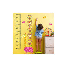 Dresser Size Chart Cartoon Animals Height Chart Cum Wall Sticker