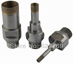 diamond bit. rzz diamond core drill bit sintered thread for glass free ship l75mm