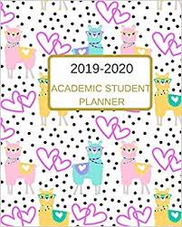 College Planners 2020 2019 2020 Academic Student Planner A Cool Cute Pink Llama