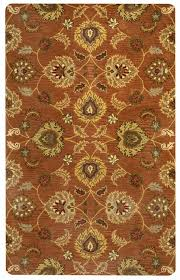 valintino soft wool cotton area rug 8 x 10 brown khaki tan red olive green
