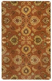 valintino soft wool cotton area rug 10 x 14 brown khaki tan red olive green