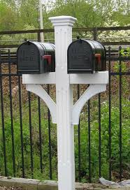 residential mailboxes and posts. Double Mailbox Post | Fluted - Recessed Panel Vinyl Residential Mailboxes And Posts I