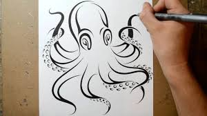 Small Picture How to Draw an Octopus Tribal Tattoo Design Style YouTube